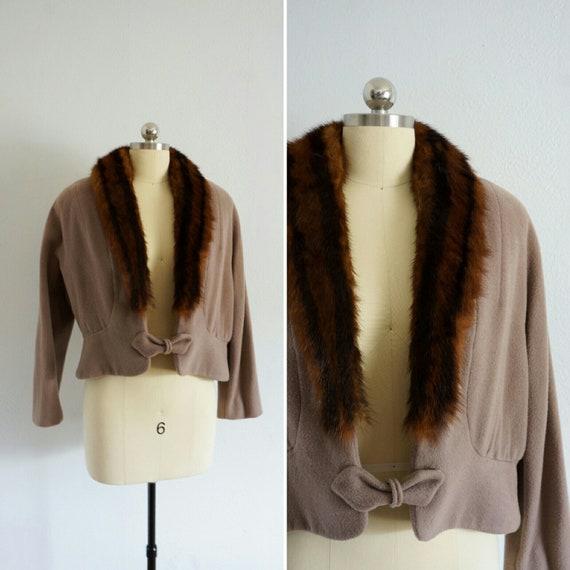 1950s Apres-Midi Cafe mink jacket | vintage 50s cr