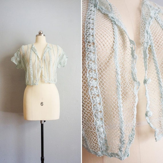 1950s Dream Story crochet blouse | vintage 50s han