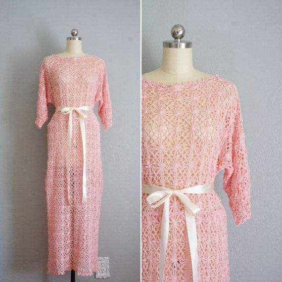 1930s Secret Keeper crochet pink dress | vintage 3