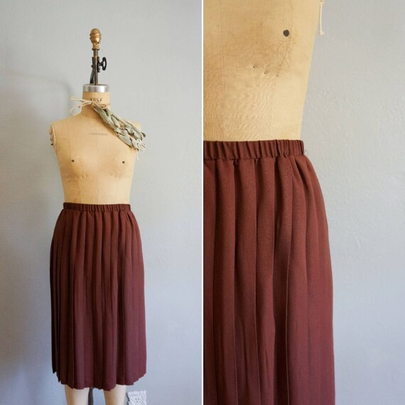 1970s Shadows of Fall pleated skirt | vintage 70s