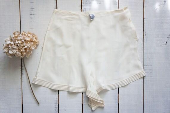 1940s Trillium cream tap shorts | vintage 40s tap
