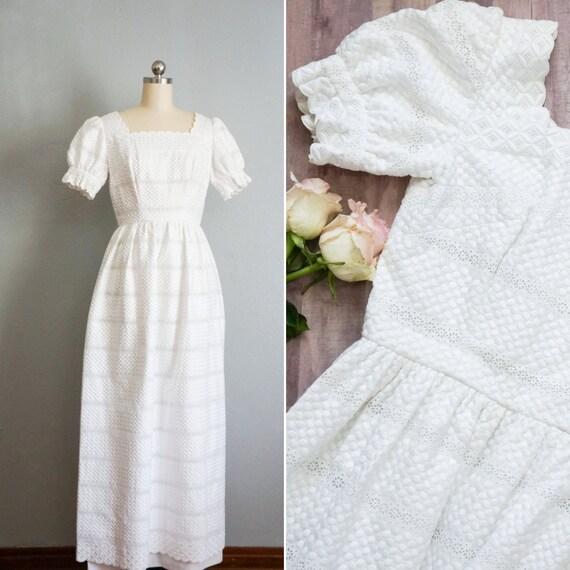 1970s Clementine white wedding dress | vintage 70s
