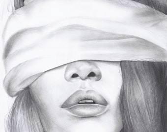 """Original Graphite Drawing - """"OBSESSION"""""""