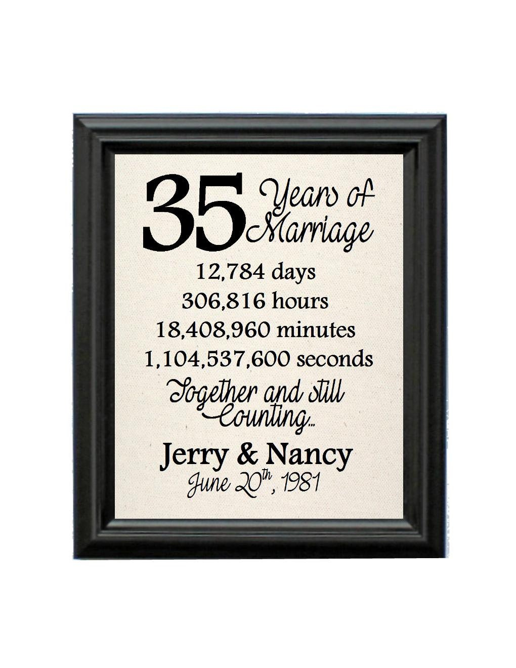 35th Anniversary Gift For Her Natural Cotton Anniversary Etsy