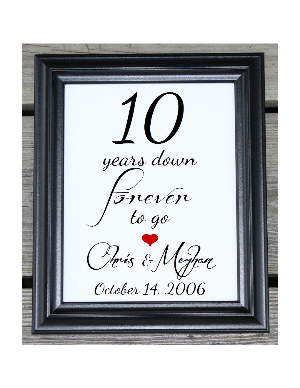 10 ans 10 ans de mariage 10 e anniversaire 10 me etsy. Black Bedroom Furniture Sets. Home Design Ideas