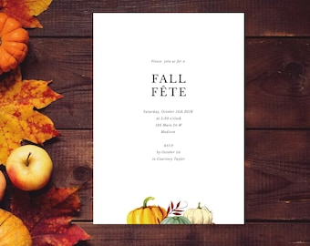 printable fall invitation template fall frolic autumn party etsy