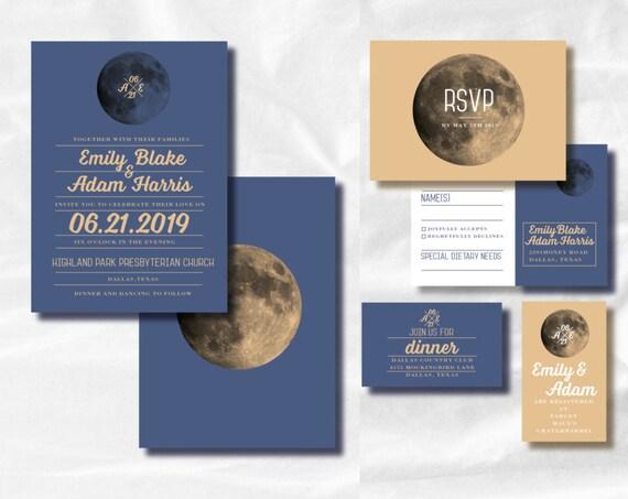 over the moon printable invitation celestial invitation etsy