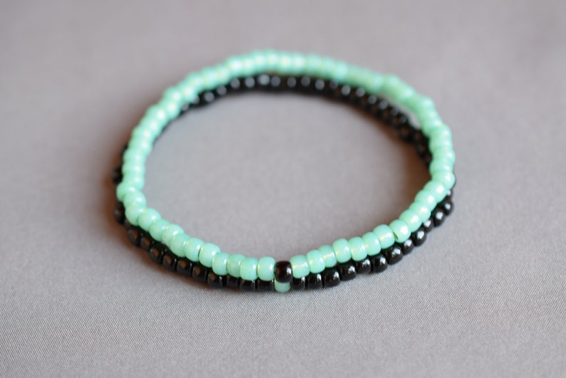 Green seafoam long distance relationship bracelet distance friendship bracelet long distance boyfriend gift bisexual bracelet