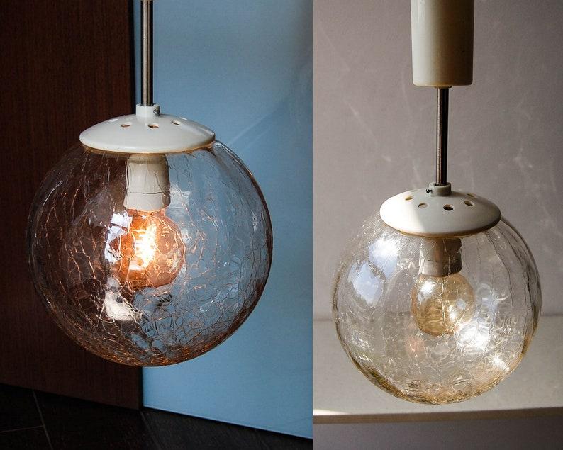 Chiara luce del globo di vetro lampada anni a sfera etsy
