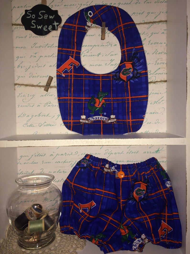 8c3eb8891 University of Florida Gators logo bubble Shorts and bib | Etsy