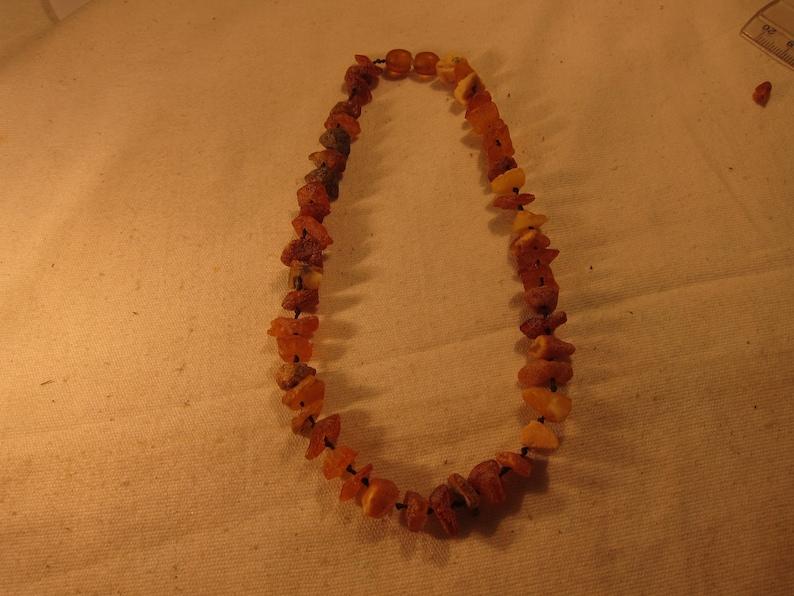2 Natural Baltic Amber necklace kinder Necklace For Babies