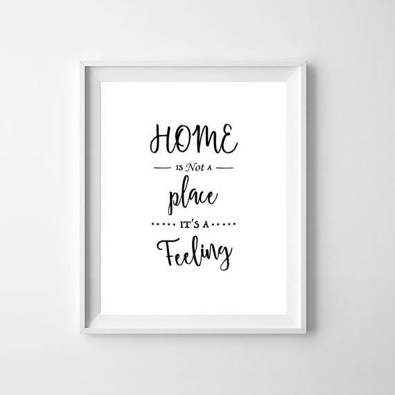 Happy Place Inspirational Quote Poster Art Print A6-A0 Decor Gift Wall Love Home