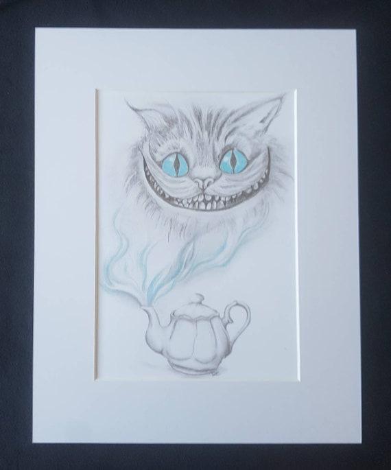 Imprimer Le Chat Du Cheshire Alice Au Pays Des Merveilles Etsy