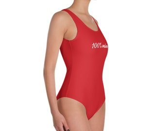 One-Piece Swimsuit for her, 100% mine red swimsuit, Popular garment, Great quality for great price