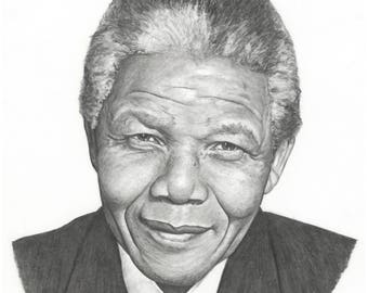"""8.5x11"""" OR 11x17"""" Print of Nelson Mandela with Brave Man Quote"""
