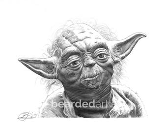 """8.5x11"""" OR 11x17"""" Print of Yoda from Star Wars"""