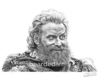 "8.5x11"" OR 11x17"" Print of Kristofer Hivju as Tormund Giantsbane from GAME of THRONES"