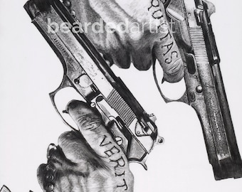 """8.5x11"""" OR 11x17"""" Print of the MacManus Brothers' hands from Boondock Saints"""