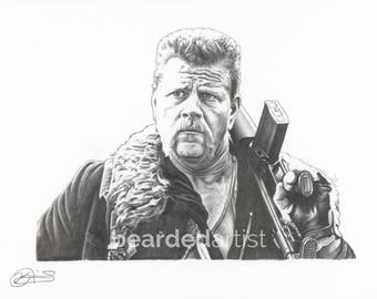"""8.5x11"""" OR 11x17"""" Print of Michael Cudlitz as Abraham Ford from The Walking Dead"""