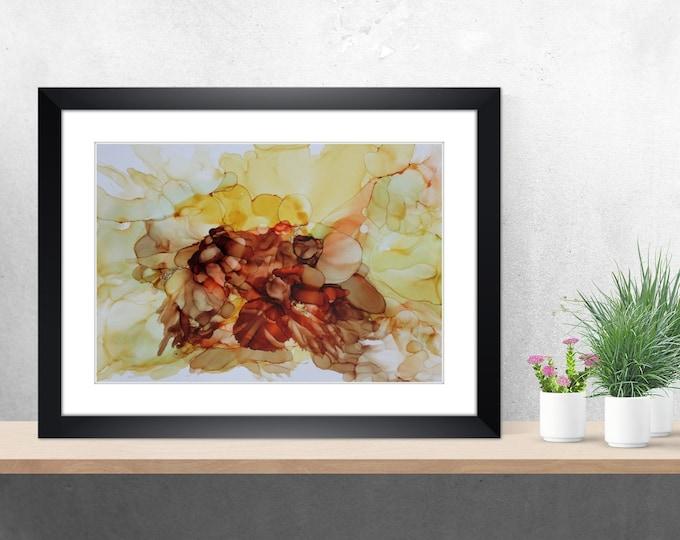 Fluid, art, picture, alcohol ink, abstract, skroart, original
