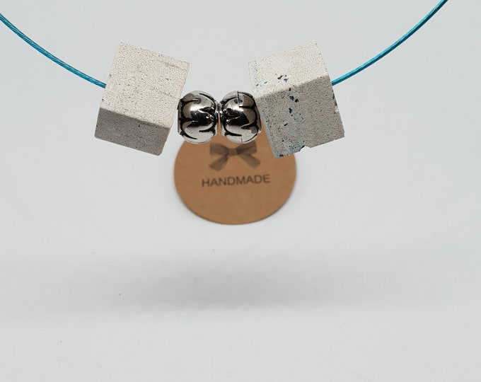Embellish necklace one-piece concrete jewelry grey necklace necklace jewelry concrete architectural neck ripe