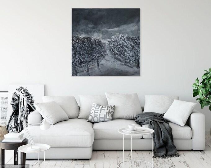 Image Image art acrylic 80 cm x 80 cm Skroart Unique handmade dunes darkness storm
