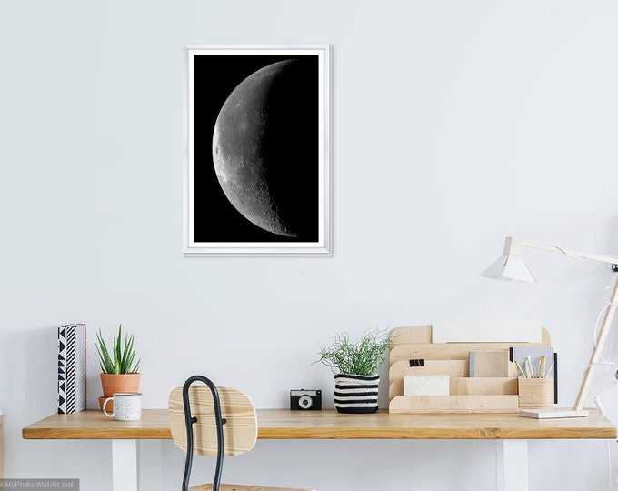 Print Wall Art Decor Photography Large Printable Poster Digital Download Picture Canvas Moon Download Digital