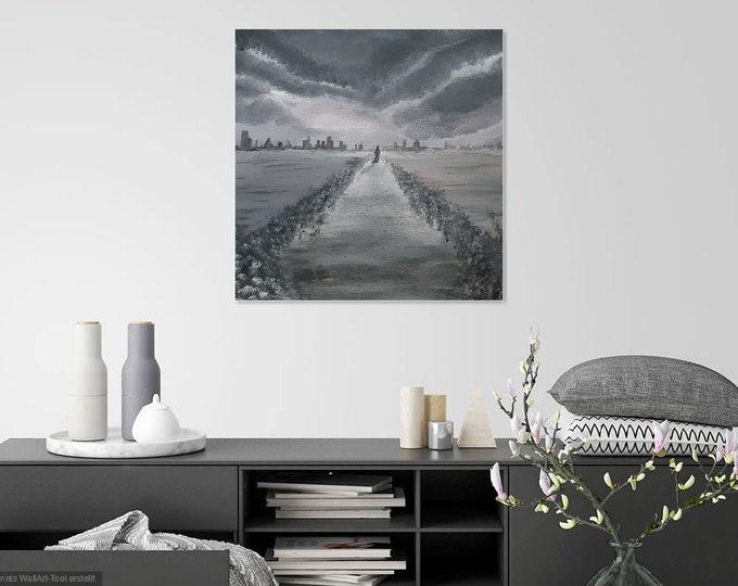 Image Image art acrylic 50 cm x 50 cm structure structure image Structural images Skroart Unique handmade Civilization