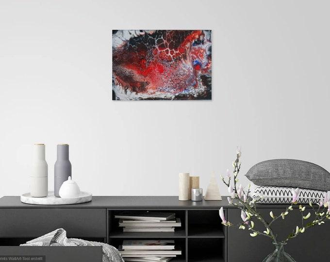 Image Image art acrylic 30 cm x 40 cm pouringpicture Pouring Skroart Unique handmade flow panels tile technology