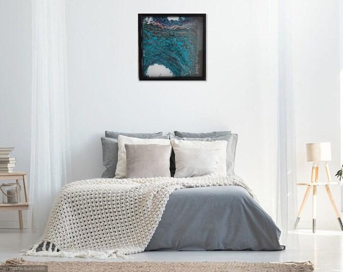 Image Image artwork acrylic pouringbild Pouring Skroart Unikat handmade flow panels tile technology glass frame 4.5 cm low