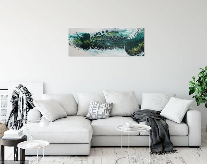 Image Image art acrylic 20 cm x 50 cm pouringpicture Pouring Skroart Unique handmade flow panels tile technology