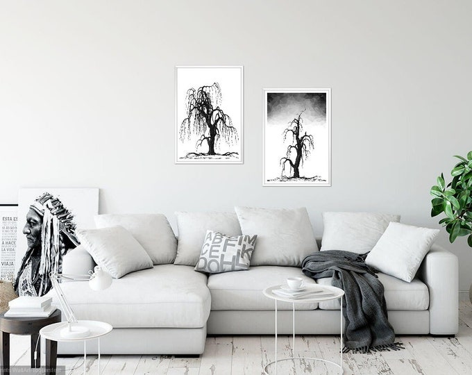 Print Wall Art Decor Photography Large Printable Poster Digital Download Picture Canvas Tree 2-SET Download Digital