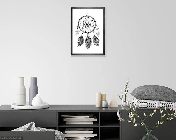 Print Wall Art Decor Photography Large Printable Poster Digital Download Picture Canvas Dream Catcher Download Digital