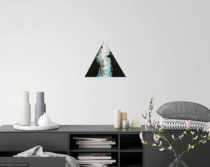 Image Image art acrylic triangle pouringbild Pouring Skroart Unikat handmade flow panels tile technology