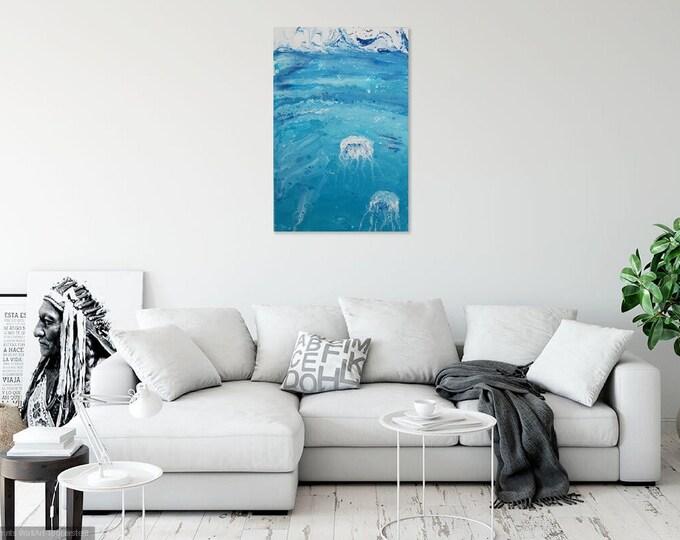 Image Image art acrylic 40 cm x 60 cm pouringpicture Pouring Skroart Unique handmade flow panels tile technology