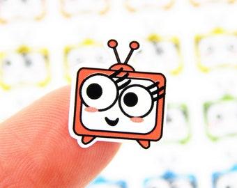 1e7b512e1e6 42 Tiny Cute Little Face TV Time Stickers - The Movies