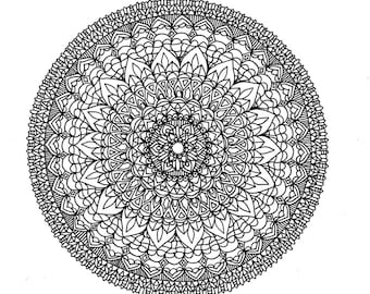 Colouring Page. Mandala. A4. Automatic Print and Download!