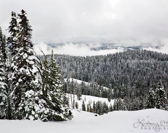 "Yellowstone Snow Photography | ""Dunraven Pass Winter"" | Yellowstone Winter Photo - Yellowstone Print - Winter Wall Art - Snow Wall Art"