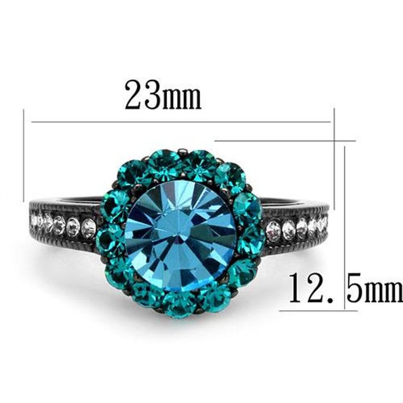 Aquamarine Crystal Ring