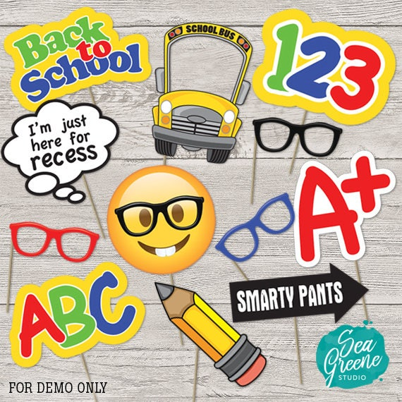 Back To School Printable Photo Booth Props First Day Of Etsy