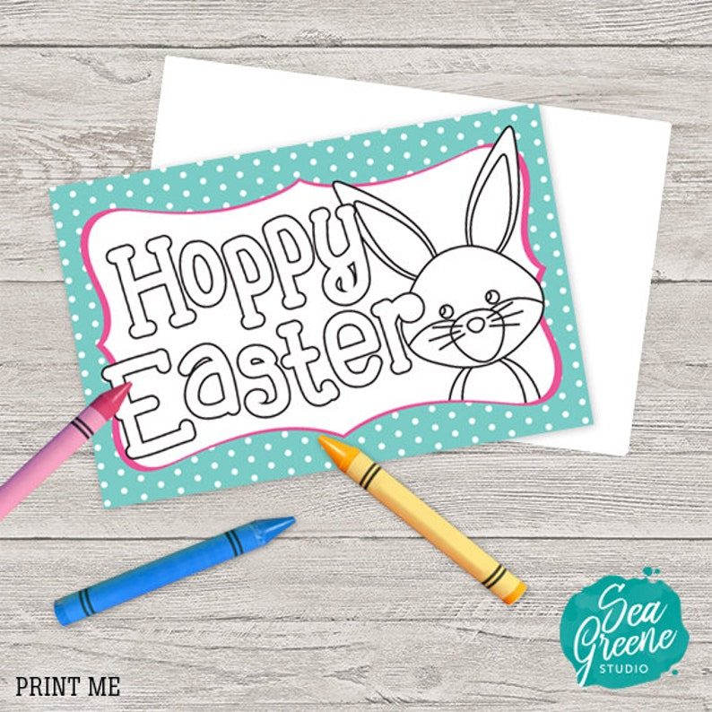 image regarding Printable Easter Cards to Color known as Printable Easter Card Easter Coloring Sheet Card Yourself Coloration Easter Card  Do it yourself Easter Card Infant Crafts Easter Greeting Card