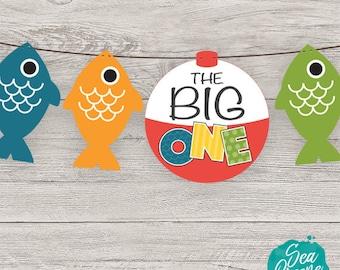 The Big One Birthday printable | The Big One Banner | First Birthday Banner | Fishing Birthday Party | Birthday Party printable banner