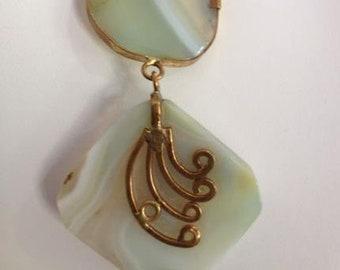 Sea Green Agate Pendant