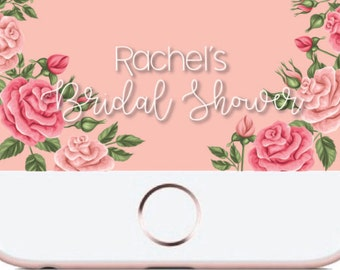 Floral Custom Snapchat Geofilter - Bridal Shower Filter - Birthday Filter - Snapchat Filter
