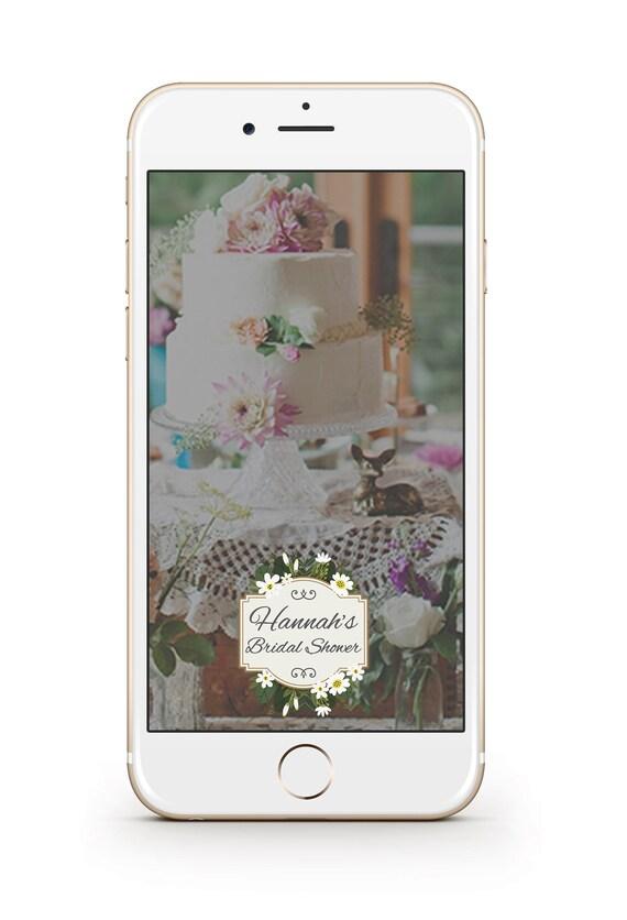 bridal shower snapchat filter floral bridal shower | etsy