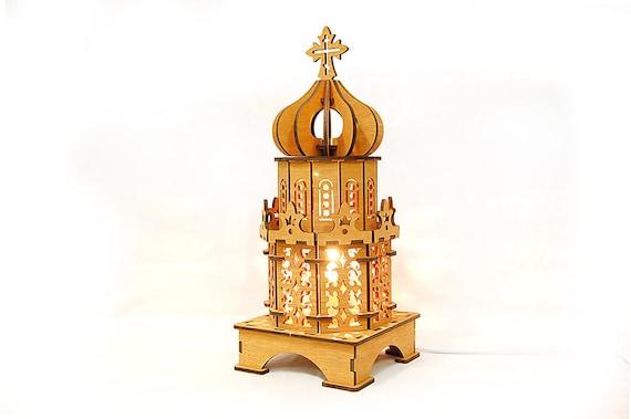 L glise en bois lampe chevet cath drale lampe lampe de bureau chambre coucher lampe cadeau - Lampe pour chambre a coucher ...