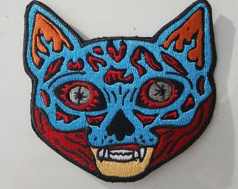 Meowbey Kitty Cat Iron On Patch They Live Mashup