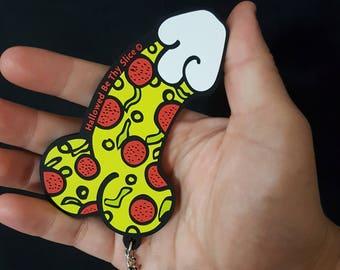 PizzaDick PVC Keychain