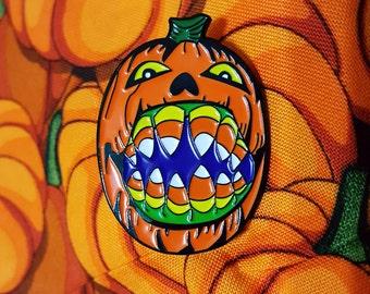 Candycorn Pumpkin Halloween Soft Enamel Lapel Pin