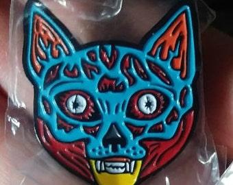 Meowbey enamel pin
